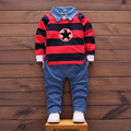 Kids Clothes Baby Boys Set Girls Outfits 2017 New Kid Tracksuit Children 2pcs Denim Suit T-shirt+Jeans Toddler Clothing