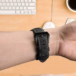 Image 3 - 22 مللي متر حزام جلد طبيعي ساعة ذكية المعصم الفرقة حزام ل Garmin Fenix 5/Fenix 5 Plus/Forerunner 935/Quatix 5 (لا تناسب سريعة)