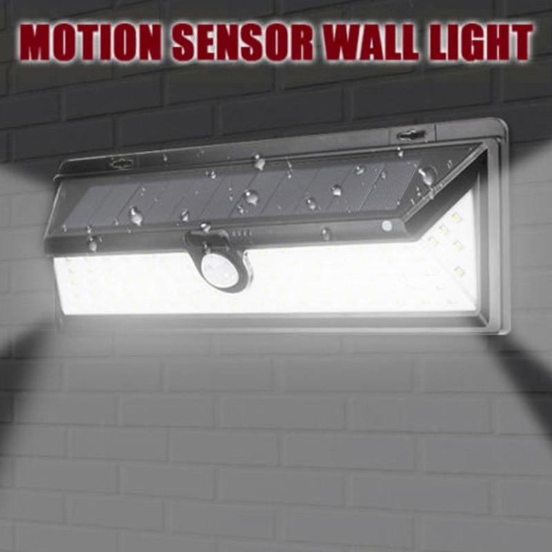 90 LED Solar Power PIR Motion Sensor Outdoor Wall Light Yard Path Garden Lamp QJ888