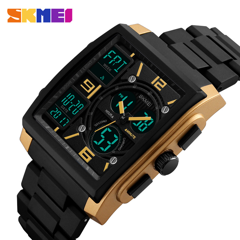 SKMEI Sports Watches Men Top Brand Luxury Military Watch Clock Male LED Digital Quartz Wrist Watch Man reloj hombre 2017 ohsen watches brand new luxury men swimming digital led quartz watch outdoor sports watches military waterproof man clock rubber