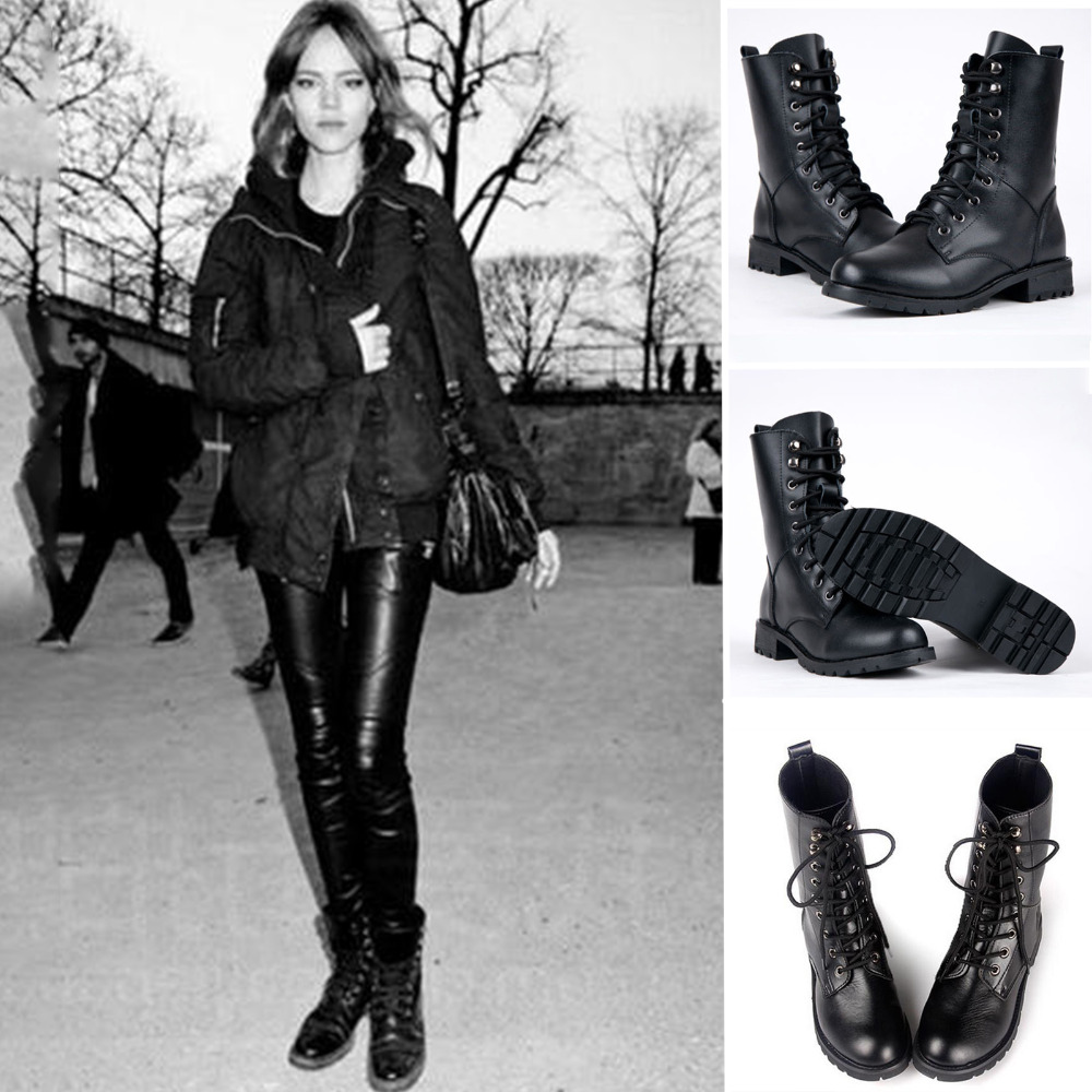 Innovative Womens Biker Boots Studded Pull On Black Fashion Boots UK Sizes 3 8 | EBay