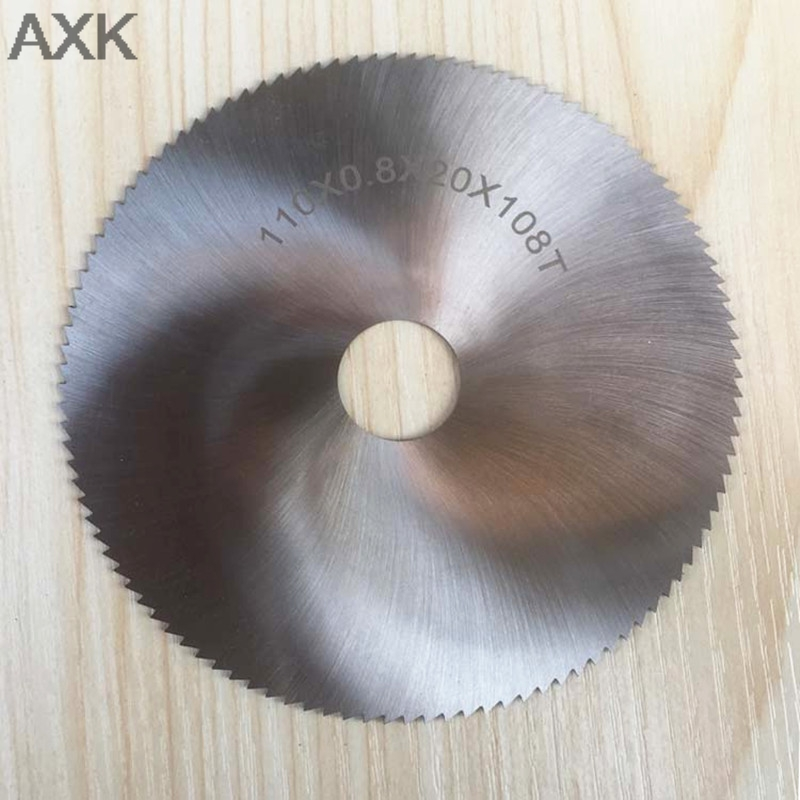 AXK 1pc  110x0.8x20mm 108T HSS Steel Circular Saw Blade Wood Metal Cutter HSS Slitting Saw Blade General Purpose Saw Blade