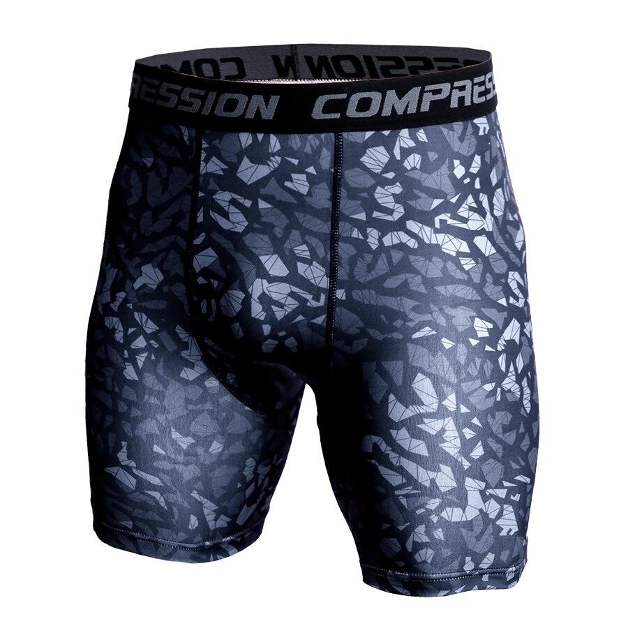 Men Compression Under Layer Short Pants Fashion 3D Print Camouflage Athletic Tights Shorts Bottoms Skinny Shorts Men Bottom