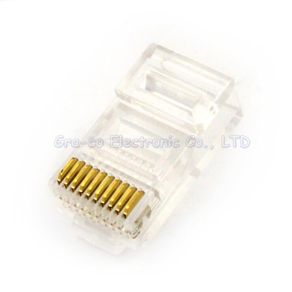 50pcs <font><b>10P10C</b></font> RJ48 crystal plug RJ48 network cable Crystal Head Network Interface image