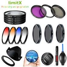 Uv Cpl Nd Fld Afgestudeerd Kleur Close Up Filter & Lens Hood Cap Cleaning Pen Voor Canon Powershot SX70 SX60 SX50 Hs G3X Camera