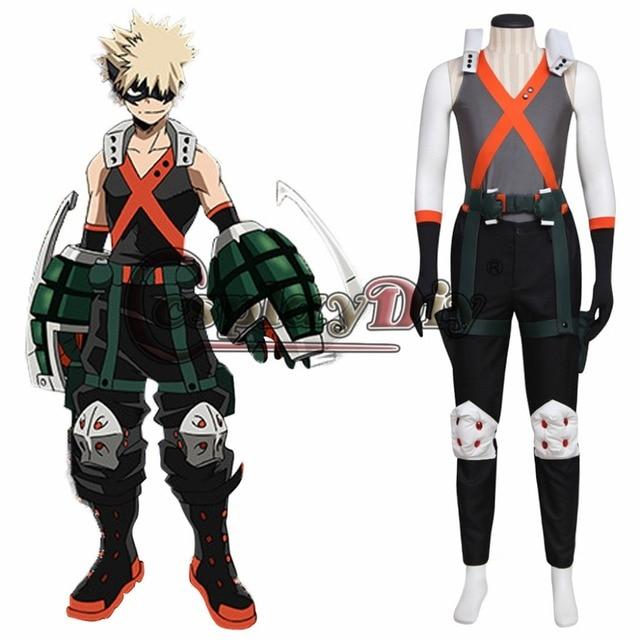 Boku no Hero Academia Bakugou Katsuki Cosplay Unisex Costume My Hero Academia Outfit Halloween Fancy Dress Custom Made