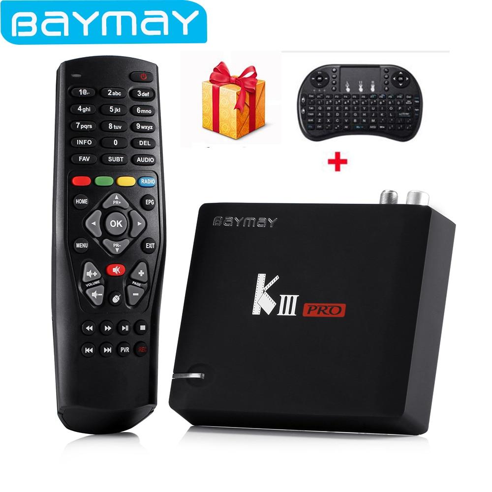 Prix pour En Stock! d'origine KIII PRO Intelligent android TV Box 3 GB + 16 GB Octa core Amlogic S912 DVB T2 et DVB S2 WiFi Bluetooth 4.0 Lecteur Multimédia