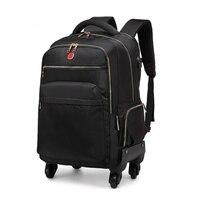New Waterproof Multifunction Rolling Luggage 1822Spinner Backpack Shoulder Travel Bag Trolley Carry On Wheels School Bag