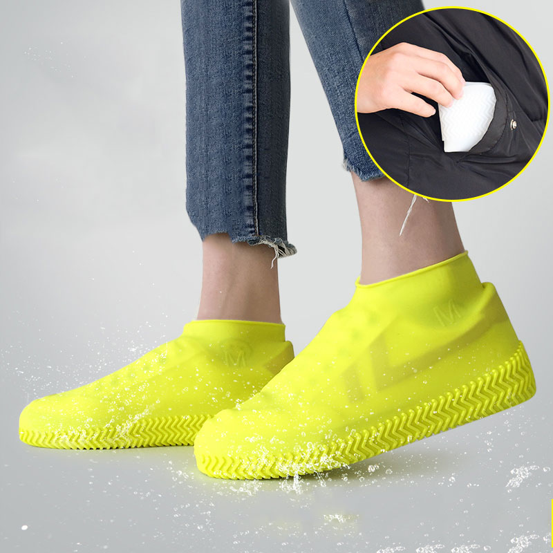 1*Reusable Shoe Cover Waterproof Anti-Slip Silicone Rainproof Shoes Covers USA