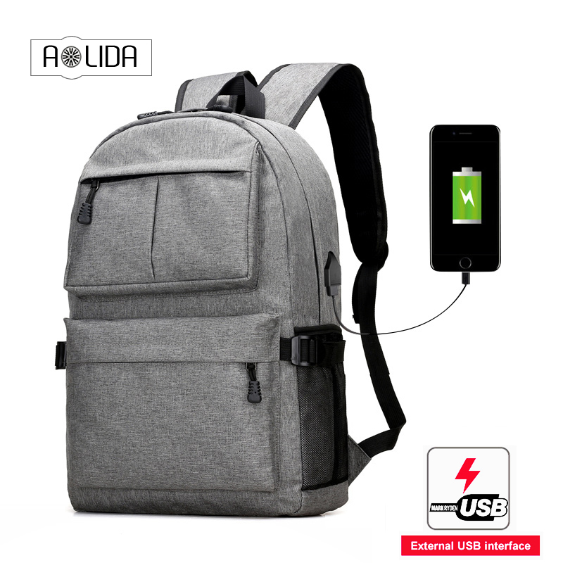 New Anti-thief USB charging laptop Compute backpack for women male Backpack school Bag for Men Mochila backpacks with pocket heart thief