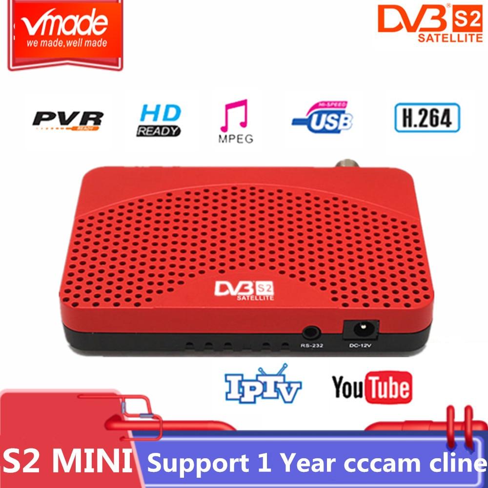 Vmade 高デジタル衛星放送受信機 DVB S2 ミニフル hd 1080 1080P テレビチューナー USB 2.0 サポート Biss Youtube マルチ多言語 DVB TV ボックス -    グループ上の 家電製品 からの 衛星 TV 受信機 の中