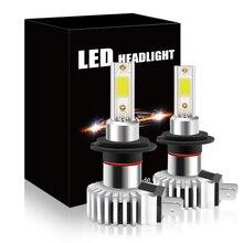 2Pcs 55W H7 H4 LED Bulb Coche 12V No Error Lens Hi Lo H1 H11 9005 Headlight Auto Car Driving LED Fog HeadLamp White Wireless