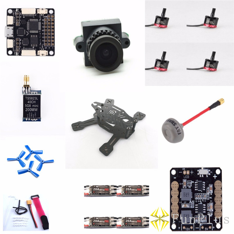 ARF 130mm Racing Mini Drone Carbon Quadcopter Frame SP RACING F3 ACRO Emax RS1306 Motor LittleBee 20A OPTO PRO 3045 Kit mini 130mm carbon fiber fpv quadcopter frame kits with emax 1306 4000kv motor littlebee blheli s spring 20a esc f3 f4 fc ts5823l