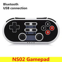 NS02 Classic Game Controller Bluetooth Wireless Gamepad Mini Game Pad For Windows PS3 Android With 2