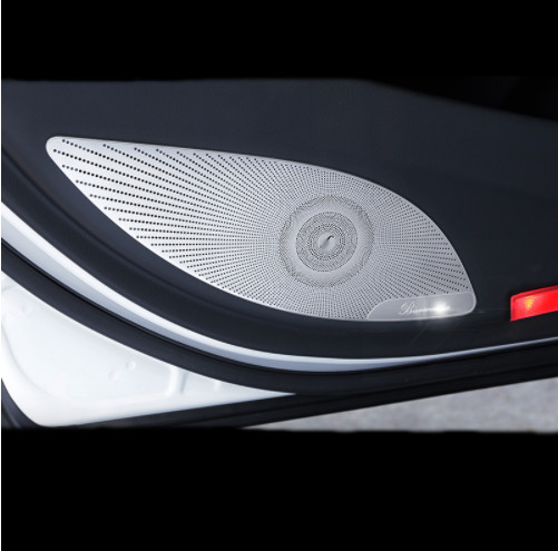Car Styling Interior Door Stereo Speaker Net Circle Cover Trim For Mercedes Benz E Class W213