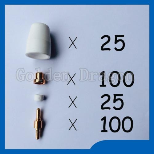 ФОТО Free shipping 250pcs PT31 LG40 30/40A Air Plasma Cutter Cutting Consumables KIT Fit CT312 CUT40 CUT30 CUT50