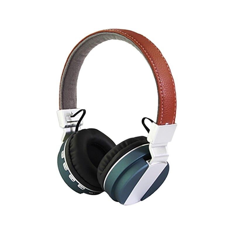 HIFI Bass Leather Bluetooth Headset earphone Wireless Headphones Stereo TF card Adjustable AUX wire Earphone Music player N30C wireless big headphones high quality bluetooth for cell phones stereo audio foldable earphones tf card music player de112b