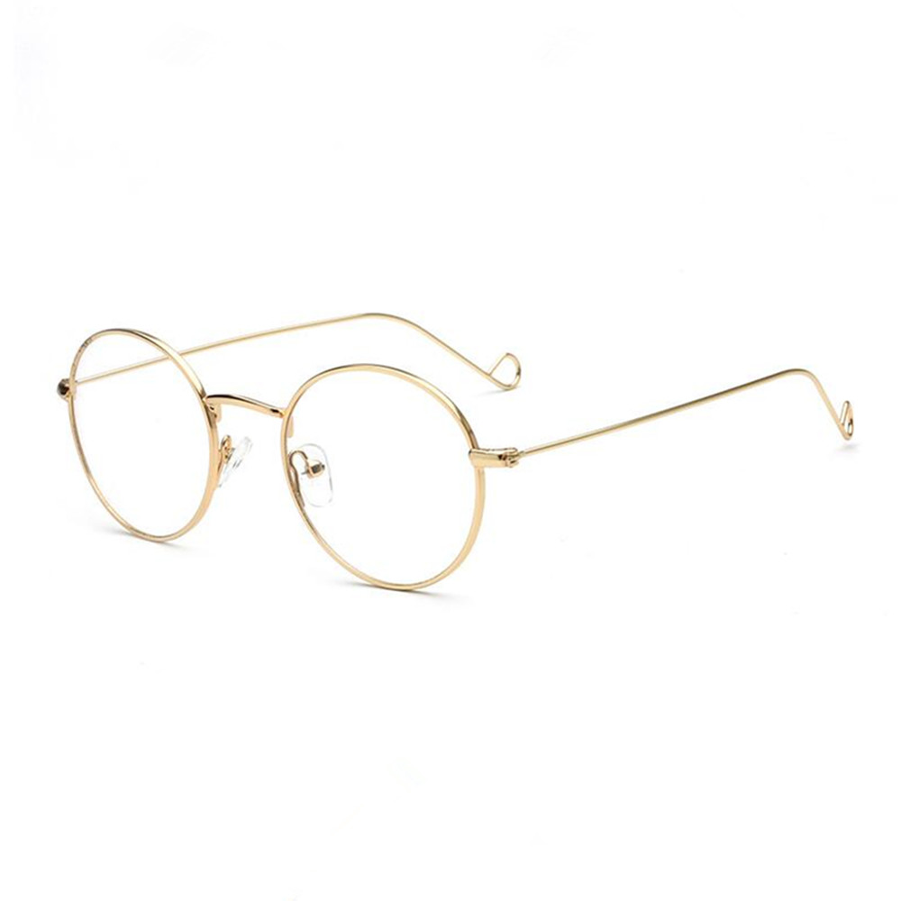 Vintage Oval Round Japan Hand Made Metal Gold Wire Eyeglass Frames ...