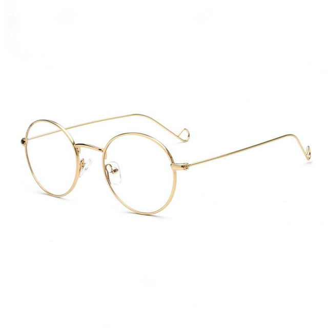 30d71b33fd83b Vintage Oval Round Japan Hand Made Metal Gold Wire Eyeglass Frames myopia  Rx able John Lennon Light Glasses
