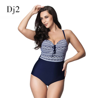 Sexy Geometric Print Women Swimwear Plus Size Swimsuit Vintage Retro One Piece Bathing Suit Brazilian Maillot