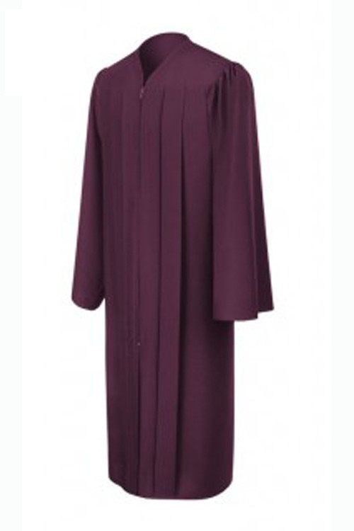 matte-maroon-bachelor-graduation-gown_Be.fore