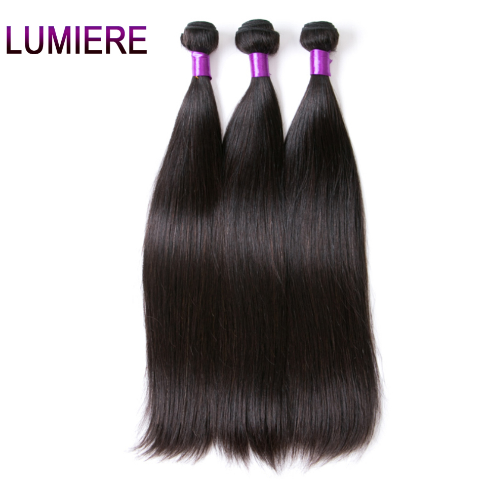 Lumiere Hair Peruvian Straight Hair Bundles Natural Color Human Hair Extensions Remy Hair Weave Bundles One Piece Free Shipping
