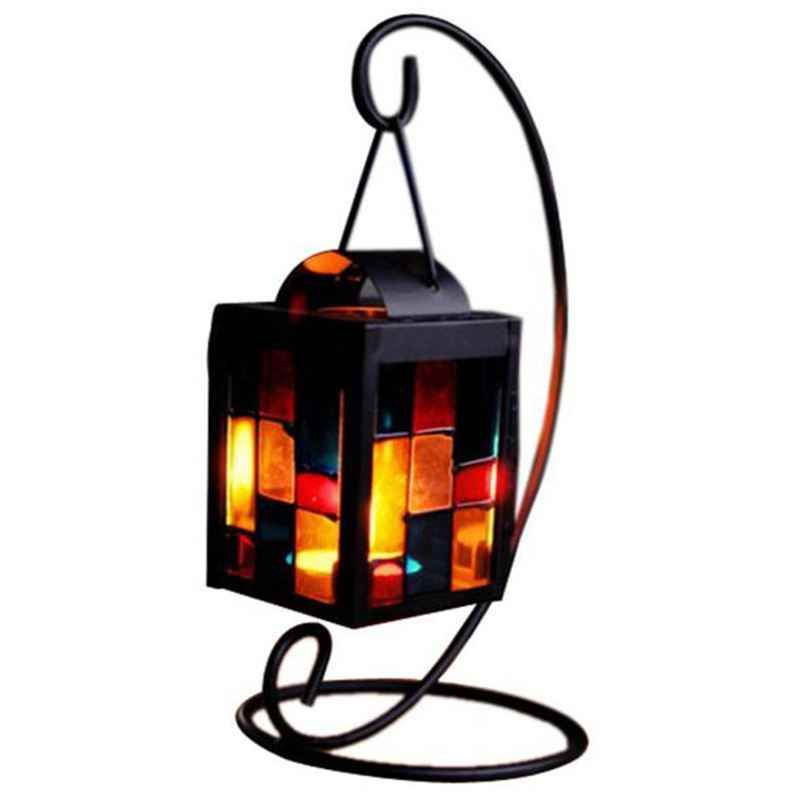 Classical Candlestick Retro Iron Moroccan Style Christmas Candlestick Lamp Candleholder Light Iron Candle Holders