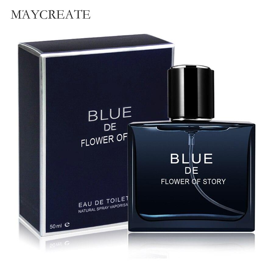 Maycreat Flor Azul DE Homens Desodorante Fragrância Refrescante de História de Longa duração Fragrâncias masculinas Antitranspirantes 50 ml