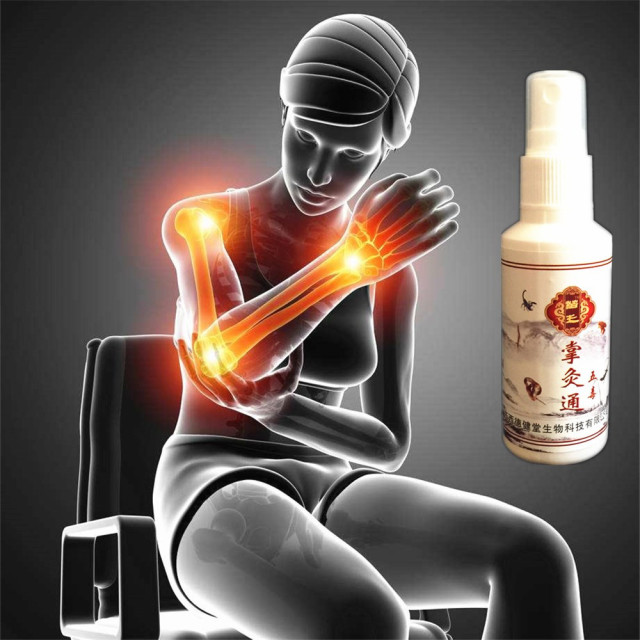 MIYUELENI 100% Gold Scorpion Venom Essential Oil Spray Far infrared Heating Analgesic Patches Fast Relieve pain liquid 85ml
