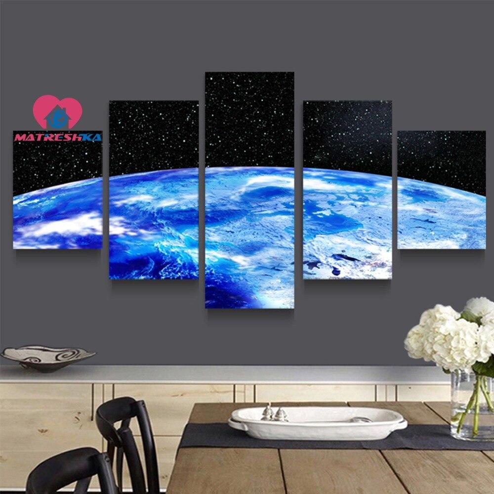Diamant broderie paysage univers diamant peinture plein carré mosaïque peinture diamant broderie triptyque photos cristaux