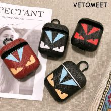 VETOMEET Owl Pattern Bluetooth Wireless Earphone Case For AirPods Protective Cover Brand Bags For Apple Airpods Charging Box