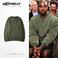 Kanye west fleece liner fall high street loose cotton round neck long sleeve lovers restoring ancient ways men and women