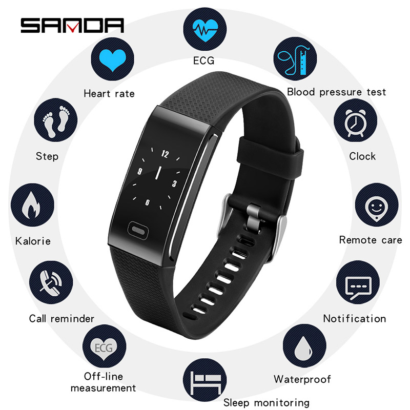 2019 New SANDA smart watch concise style bluetooth step gauge sports watch heart rate sleep monitoring  multifunction  bracelet2019 New SANDA smart watch concise style bluetooth step gauge sports watch heart rate sleep monitoring  multifunction  bracelet
