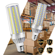 E27 Led Lamp E26 Corn Light Bulb 220V Lampada Candle 25W 35W 50W No Flicker 110V Fan Cooling 5730SMD Warehouse