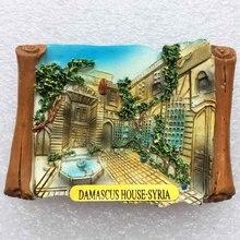 Дамаск, столица США туристические сувениры трехмерный пейзаж магнитные наклейки стикеры на холодильник характеристики