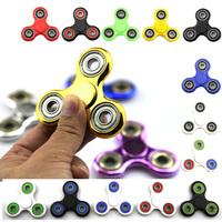 In Stock 19 Color Tri Spinner Fidget Toy Plastic EDC Fidgets Hand Spinner For Autism And