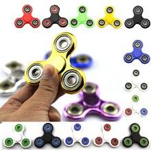 In stock 30 Color Tri font b Spinner b font Fidget Toy Plastic EDC Fidgets font