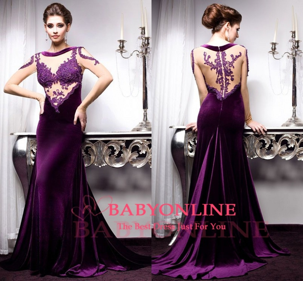 velvet dresses 2014