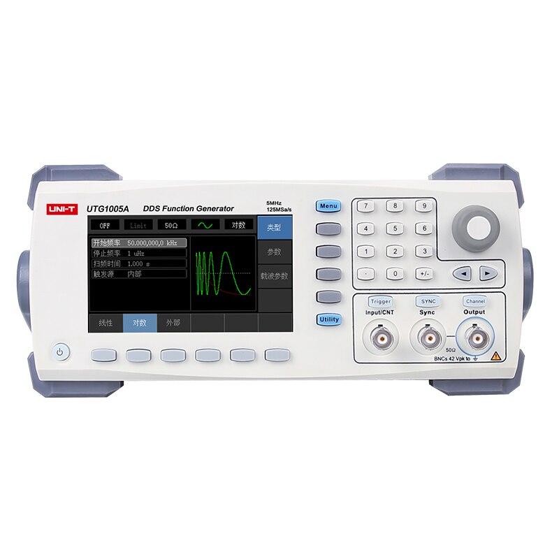 Uni T UTG1005A DDS Fonction Signal Générateur 5 MHZ 125MSa/s 14 Bits Numérique Générateur de Signaux Arbitraires fréquence mètre USB Inter