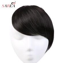SARLA, 10 шт./лот, накладные волосы на заколках, спереди, аккуратные, термостойкие, прямые, с натуральной бахромой, искусственные, синтетические, градиентные, челки, B2