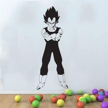 Dragon Ball Z anime giapponese Vegeta Postura di Combattimento Decalcomania Della Parete Camera Da Letto della Gioventù Camera gli appassionati di Anime Decorativo Della Parete Del Vinile StickerLZ09