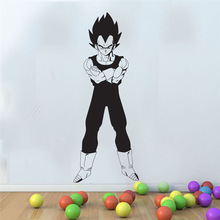 Dragon Ball Z japanese anime  Vegeta Fighting Posture Wall Decal Bedroom Youth Room Anime fans Decorative Vinyl Wall StickerLZ09