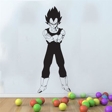 Dragon Ball Z pegatina de postura de combate Vegeta animado japonés, pegatina para pared de dormitorio, habitación juvenil, fanáticos del anime, vinilo decorativo pared StickerLZ09