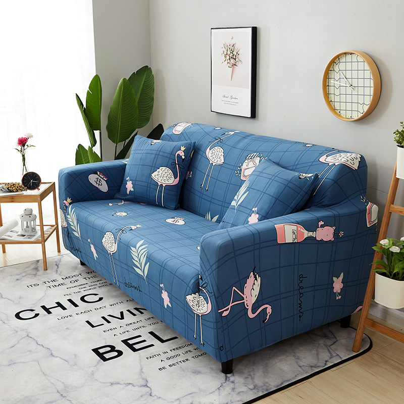 Blue Custom stretch fabric sofa sets all inclusive universal sofa cover all cover towel European summer Cloth sofa cushion slip