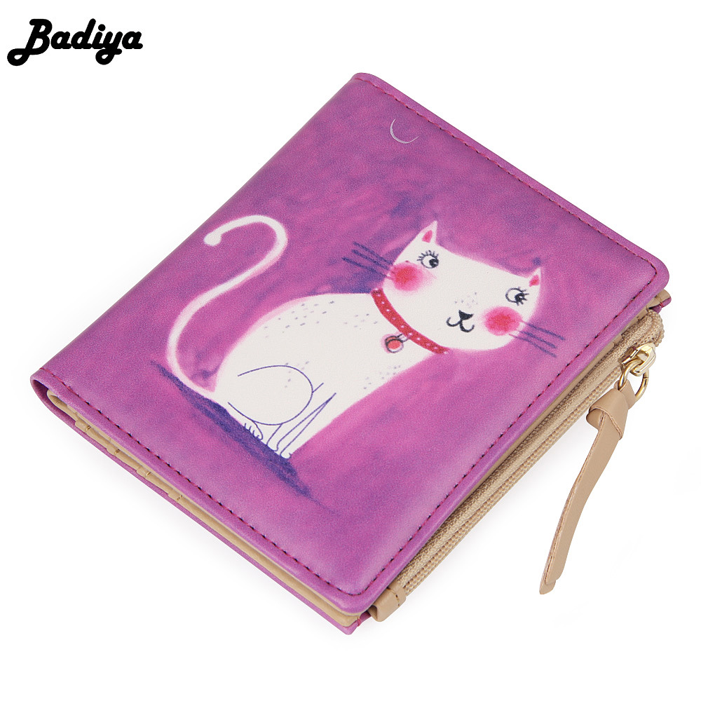 New Japan and Korean Style Women Wallet Animal Prints Girls Short Wallets Fashion Sweet Zipper Change Purse Delicate Cash Purse pacgoth japanese and korean style pu leather coin purse casual animal prints cute cats hot lip pattern zipper cash pouch 1 piece