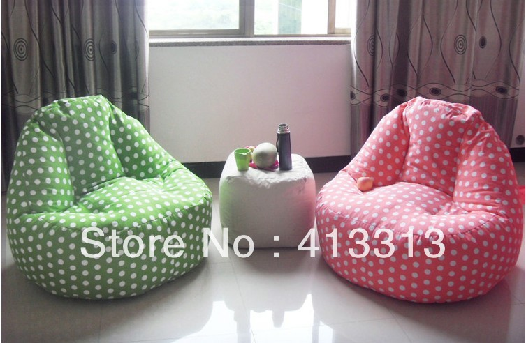 Free Shipping Living Room Relaxing Sofa Seat European Style Beanbag Chair Polka Dots Circle Dot Bean Bags In Chairs From Furniture On
