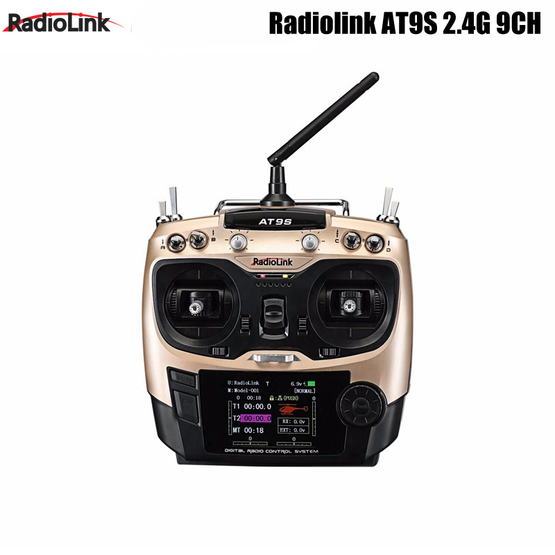 New Original Radiolink AT9S R9DS Radio Remote Control System DSSS FHSS 2.4G 9CH Transmitter Receiver for Quadcopter Helicopter new radiolink rc4g 2 4g 4ch radio control system transmitter with r4eh h receiver for rc car boat helicopter quadcopter remote