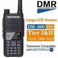 2019 Baofeng DM 1801 Digital Walkie Talkie DMR Tier1 Tier2 Tier II Dual time slot Digital Radio Compatible With Motorola DM 860
