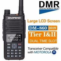 2019 Baofeng DM 1801 Digital Walkie Talkie DMR Tier1 Tier2 Tier II Dual time slot Digital Radio Compatible With Motorola DM 860