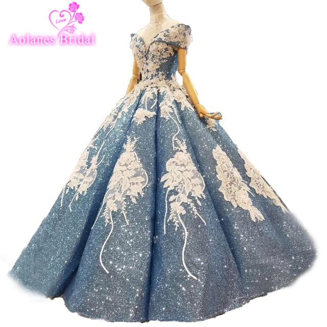 R obe De Soiree Saudi Arabic Prom Gowns Dubai Princess Lush Prom Dresses  2018 Vintage Embroidery Lace Pleated Long Ball Gowns d6db51d11116